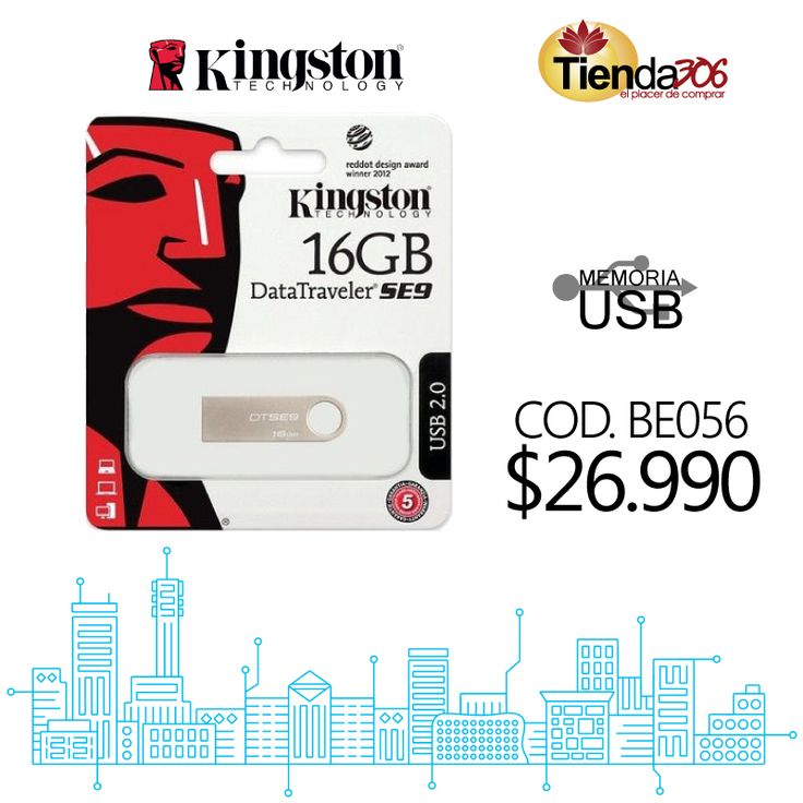 Memoria USB Kingston 16GB Datatraveler SE9