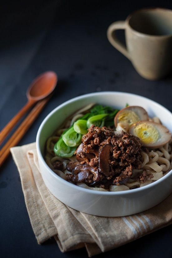 Taiwanese braised Pork and handmade noodles