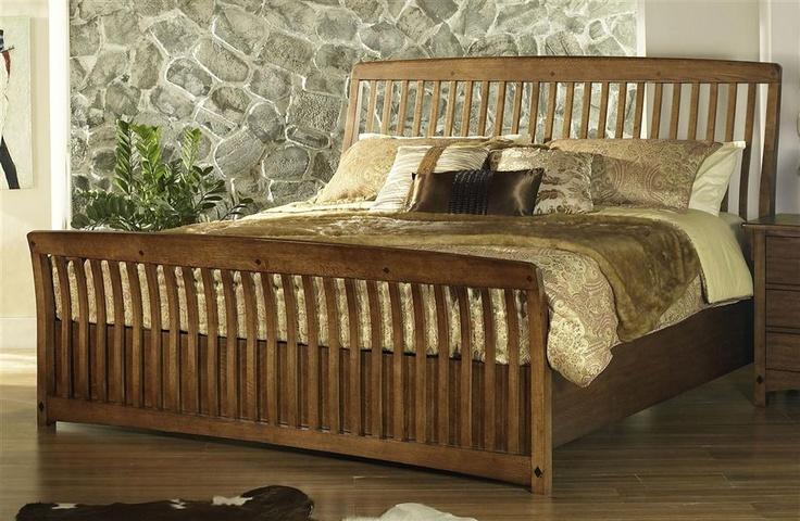 Craftsman Sleigh Bed