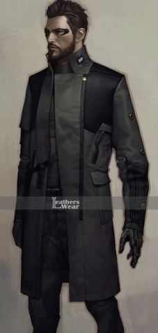 Adam Jensen Deus Ex Mankind Divided Trench Coat