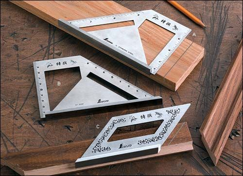 Japanese-Style Layout Squares - Woodworking