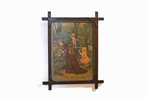 Antique Victorian Picture Victorian Adirondack by Vintassentials