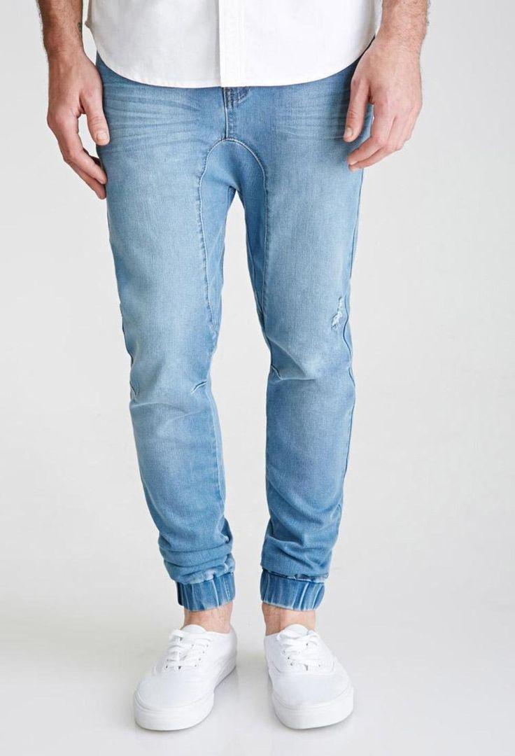 Drop-Crotch Denim Joggers http://picvpic.com/men-jeans/drop-crotch-denim-joggers-42ea921b-d695-493a-8078-ae2b95f8c37e#Light~denim