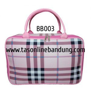 Tas burberry warna pink kode BB003