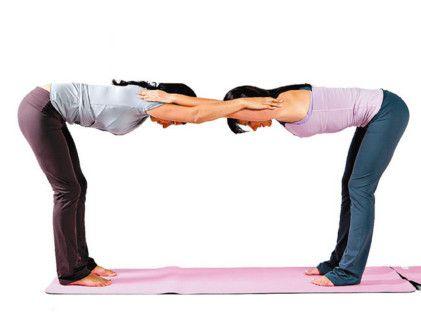 48 best partner yoga images on pinterest  partner yoga