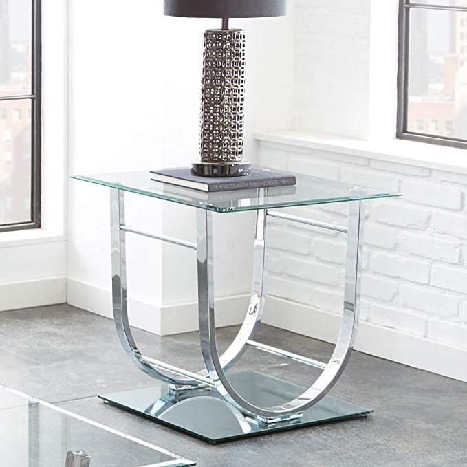 Steve Silver Natalie Square Glass Top End Table In Chrome Review