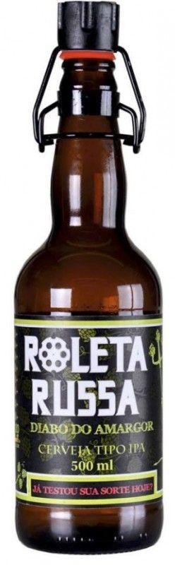Cerveja Roleta Russa Imperial IPA, estilo Imperial / Double IPA, produzida por Cervejaria Imigração, Brasil. 7.6% ABV de álcool.