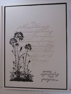 In My Craft Room - Stamping With Glenda: Serene Silhouettes Sympathy card