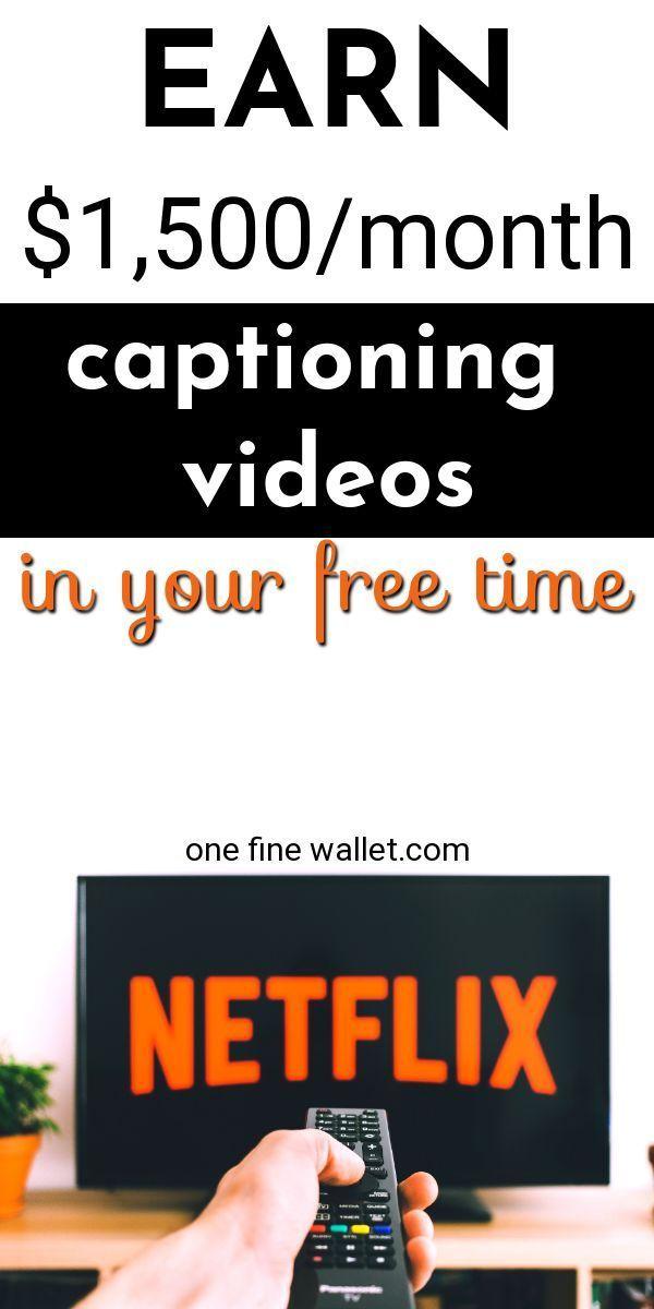 Captioning Jobs – Make Money Captioning Videos at Home $1,500/mo – Wirtschatz