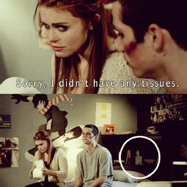 Teen Wolf!!! Haha, am I a geek that I figured this out the first time I watched it? Oh stiles...