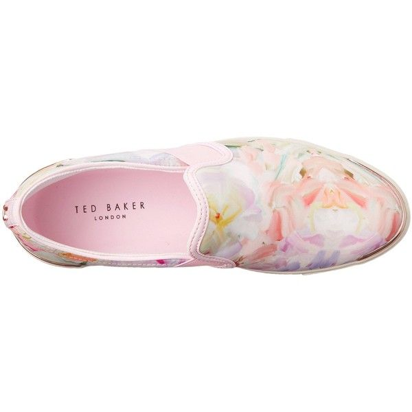 Ted Baker Women's LAULEI Fashion Sneaker (£60) ❤ liked on Polyvore featuring shoes, sneakers, ted baker sneakers, slip on shoes, floral sneakers, floral print sneakers and slip-on shoes