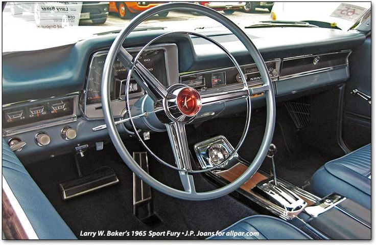 1965 Fury car dashboard