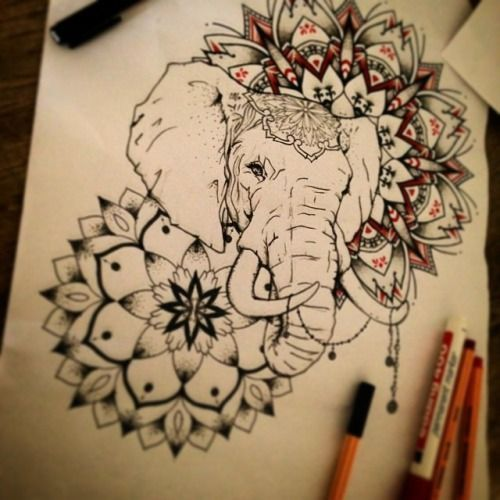 ... Buddha Elephant Tattoo on Pinterest | Ganesh tattoo Ganesha tattoo