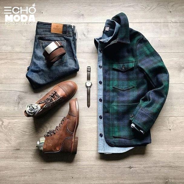25 طقم ملابس رجاليه كاجوال منسق شتاء 2021 Mens Fashion Casual Outfits Big And Tall Outfits Chelsea Boots Outfit