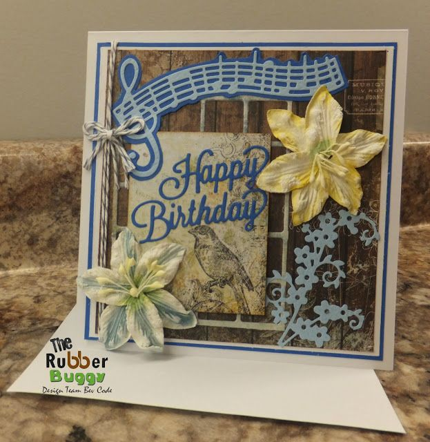 Bee Cee Creativity: Happy Birthday card at The Rubber Buggy