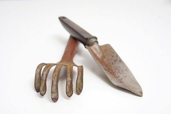 Vintage Garden Tools by BrightWallVintage on Etsy, $13.00