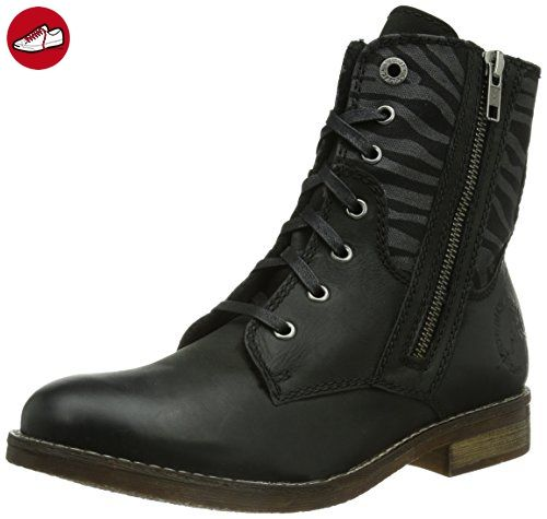 s.Oliver 25354, Damen Biker Boots, Schwarz (ZEBRA 20), 37 EU (4 Damen UK) - Soliver schuhe (*Partner-Link)