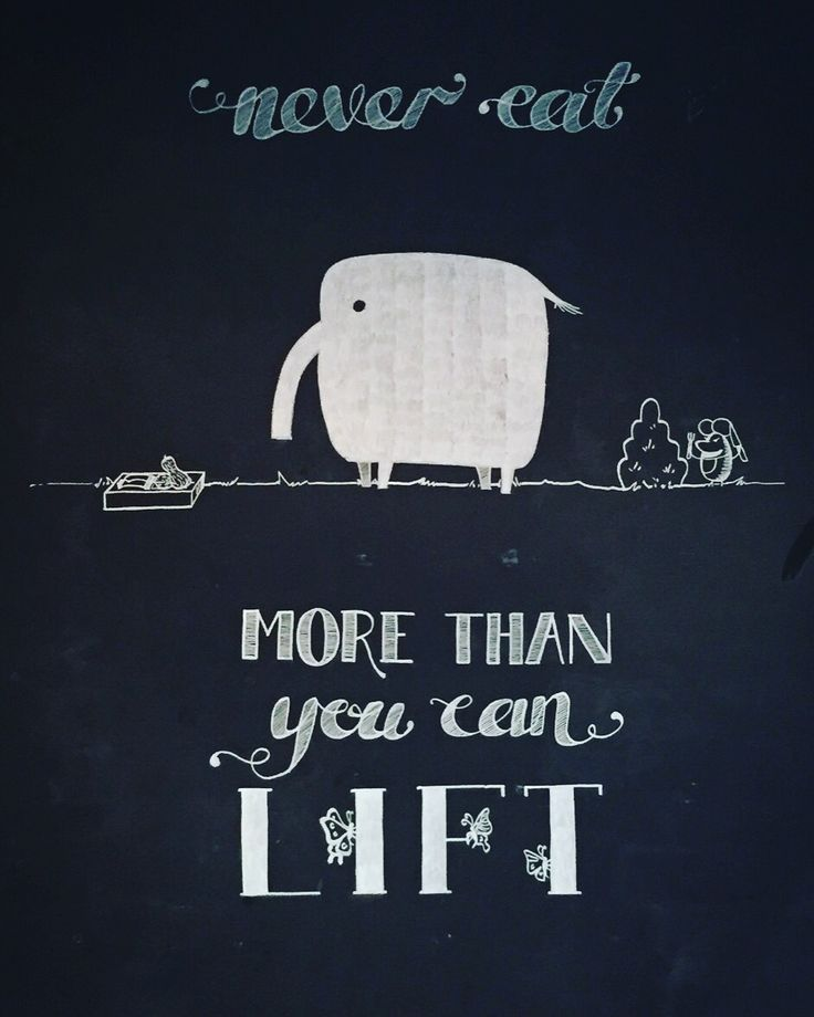 """Cannes quote: """"Never eat more than you can lift"""" - try not to promise something you cannot deliver"""