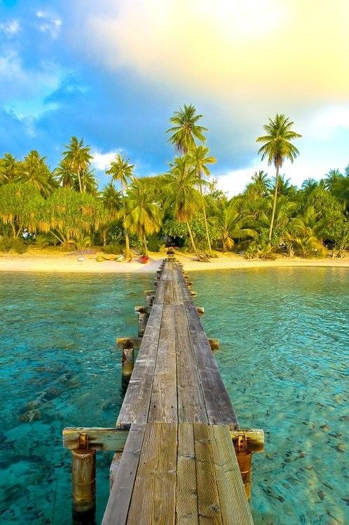 Tahiti private island
