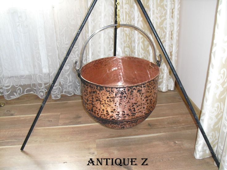 Unique!!! Transylvanian gypsy copper pot, hand made, extra large capacity, 19th century by AntiqueBoutiqueZ on Etsy