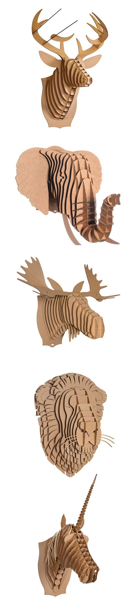 Restoration Hardware inspired! Create your own animal bust with this DIY
