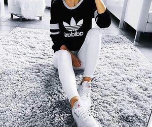 adidas I love white jeans