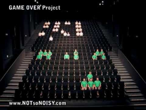חומר גלם - אנשים SPACE INVADERS is the 2nd video performance of the GAME OVER Project, directed by the Swiss artist Guillaume REYMOND (NOTsoNOISY creative agency). This stop-...