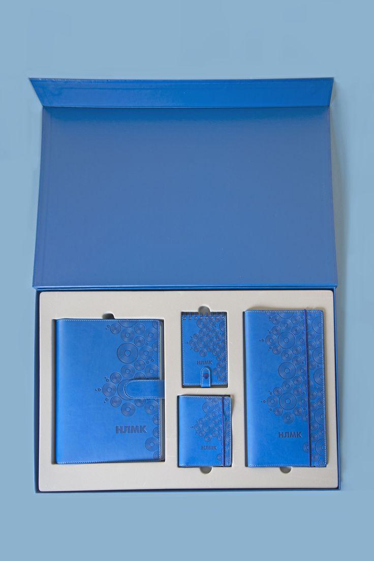 Расположение набора внутри коробки в ложементе, выполненном из флокированного пластика.