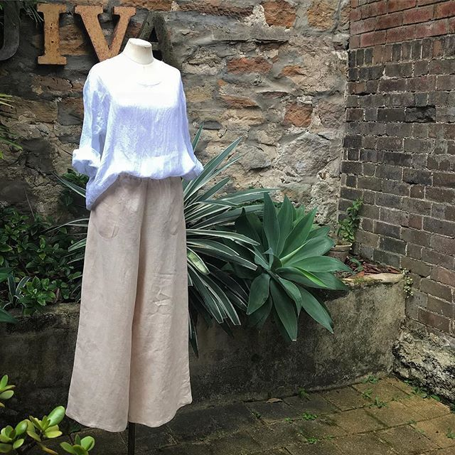 Finally ...as requested ... our #linen Mimi pants in wide leg have arrived in... now in store @jiva_clothing ... 👏👏 online soon...#linen #vintagewashedlinen #pants #widelegpants  #bestoftheday #madeinaustralia