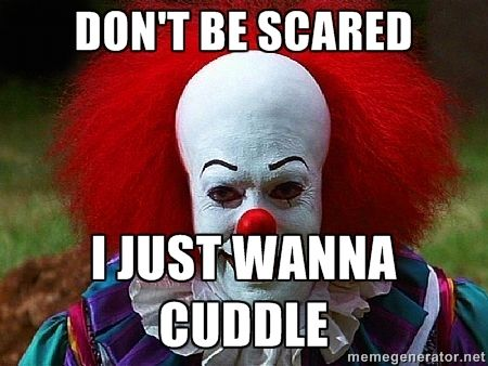 Pix For > Scary Clown Memes