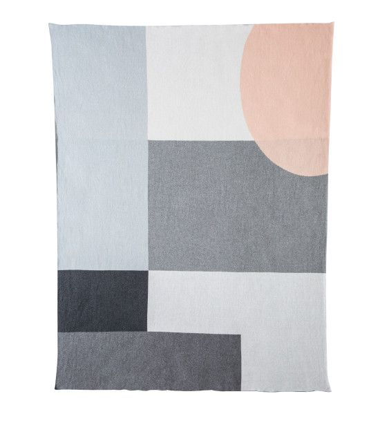 The Alpha Classic Blanket Find here: http://kateandkate.com.au/shop/blankets/alpha-classic-blanket-charcoal-marle-mid-tone-marle-light-marle-glacier-peach-parfait-snow-white/