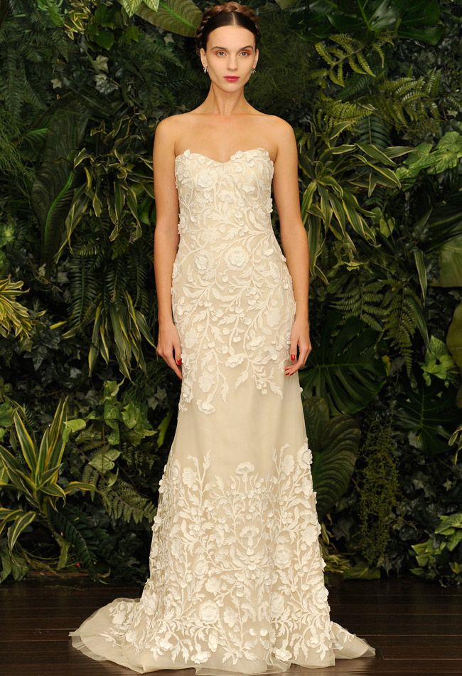 27 best Floral Applique Wedding Gowns 2014 images on Pinterest