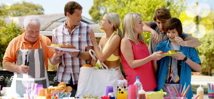 Neighbours tv show The Turner's Lou, Matt, Amber, Lauren, Mason and Bailey (Calendar Mackenzie )