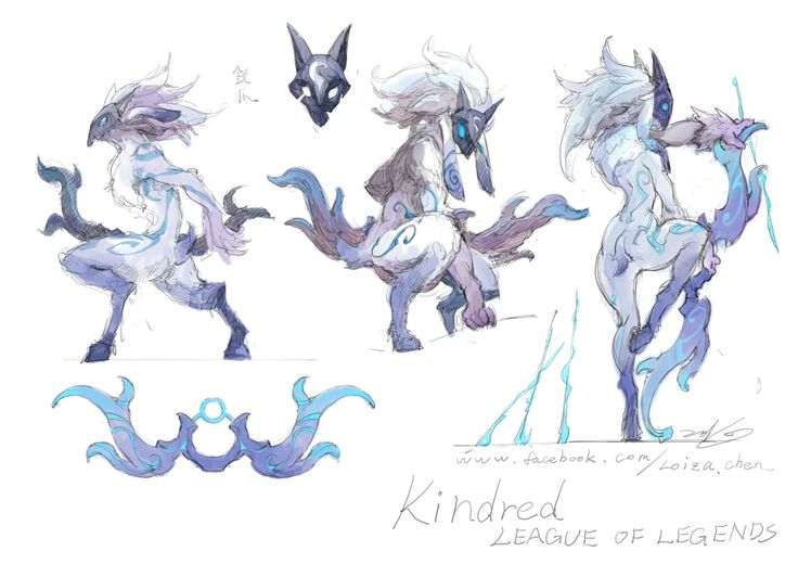 League of Legends - Kindred concept art