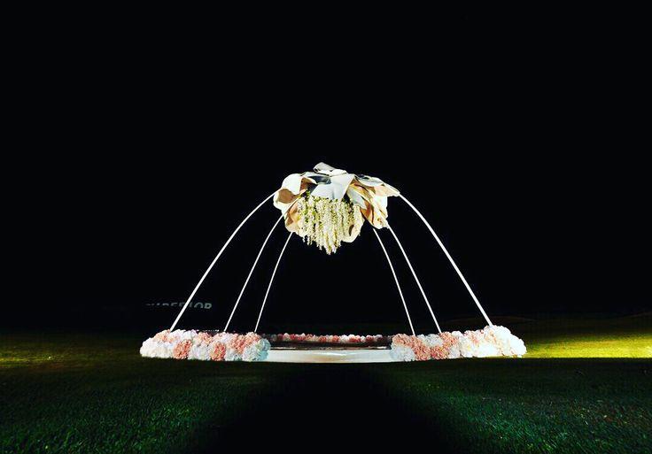 Night ceremony, wedding night, wedding ceremony, flowers, церемония, свадебная арка, декор, свадебное оформление, jennyart