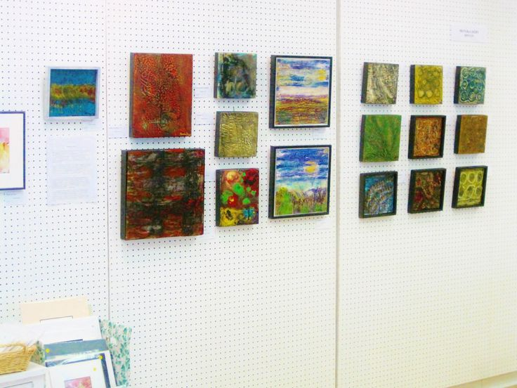 Forty paintings in acrylic, batik, encaustic
