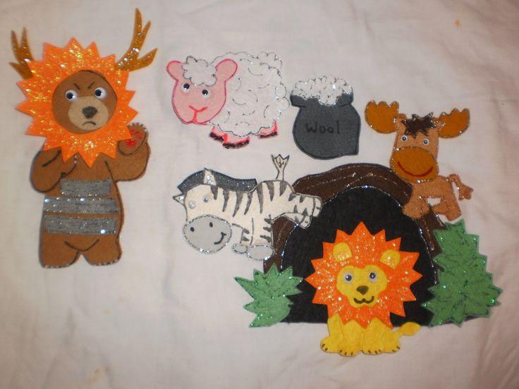 Felt Board Flannel Story Rhyme Teacher Resource THE Very Cranky Bear   eBay