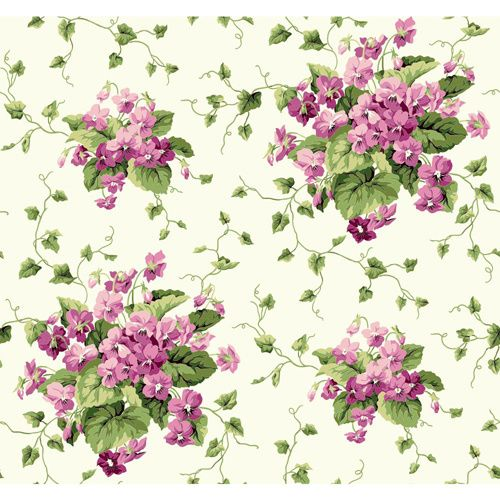 Inspired By Color Light Cream, Blue, Green And Lavender Wallpaper York Wallcoverings Wallp