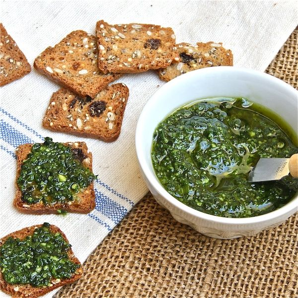 Kale Pesto-Ferment it: (Add 1/4 C whey and sit on counter for 10 hours ...