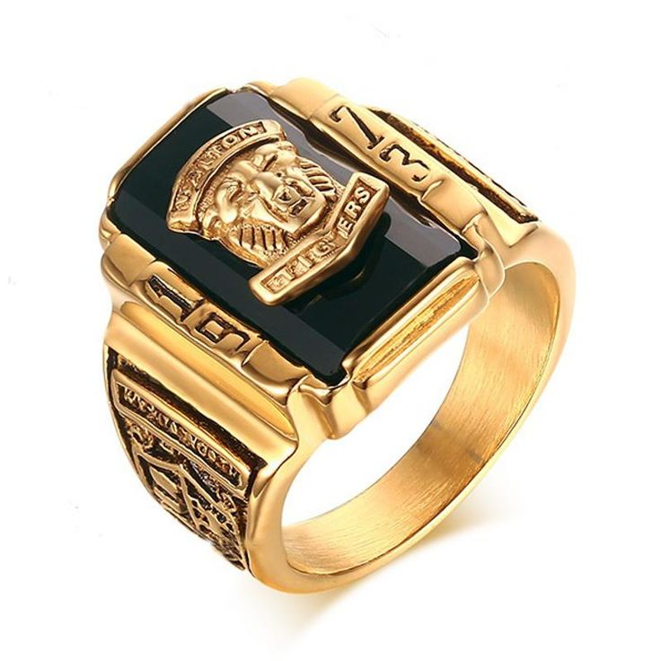 High Polished Walton Tiger Head Fashion Ring Stainless Steel Rings Halloween Gift for Men at Banggood  men women fashion jewelry
