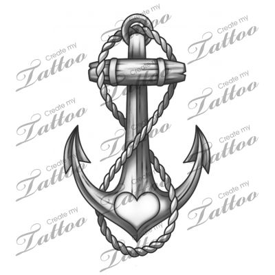 Marketplace Tattoo Anchor #19687 | CreateMyTattoo.com Love the anchor & infinity symbolism.  The heart is an added bonus!
