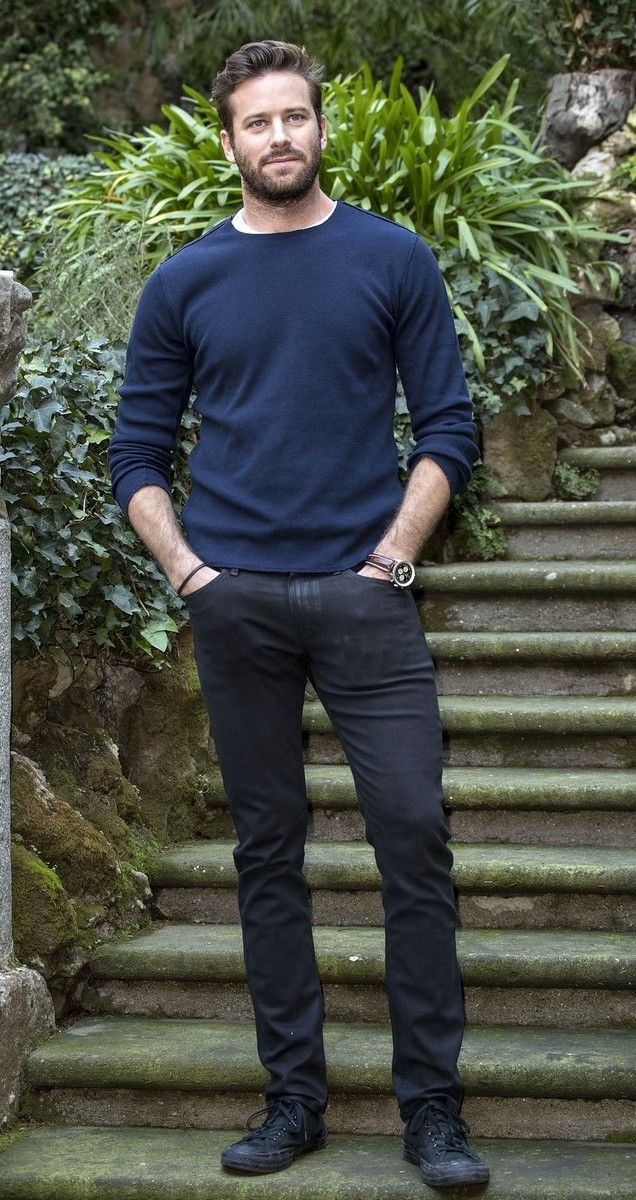 Armie Hammer Was Then Spotted Wearing The Lennox In Rowan Coated At A Photo Call For His Film Call Me By Your Na Premium Denim Premium Denim Jeans Armie Hammer