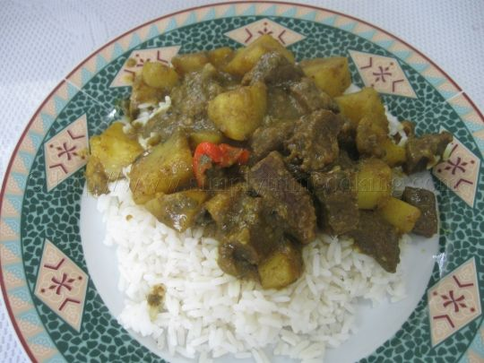 Rice and Curry Beef with Potatoes | Simply Trini Cooking #trinicooking