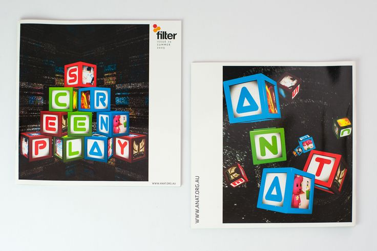 Filter Magazine, cover, play blocks concept, screen, graphic design, print - Drawcard