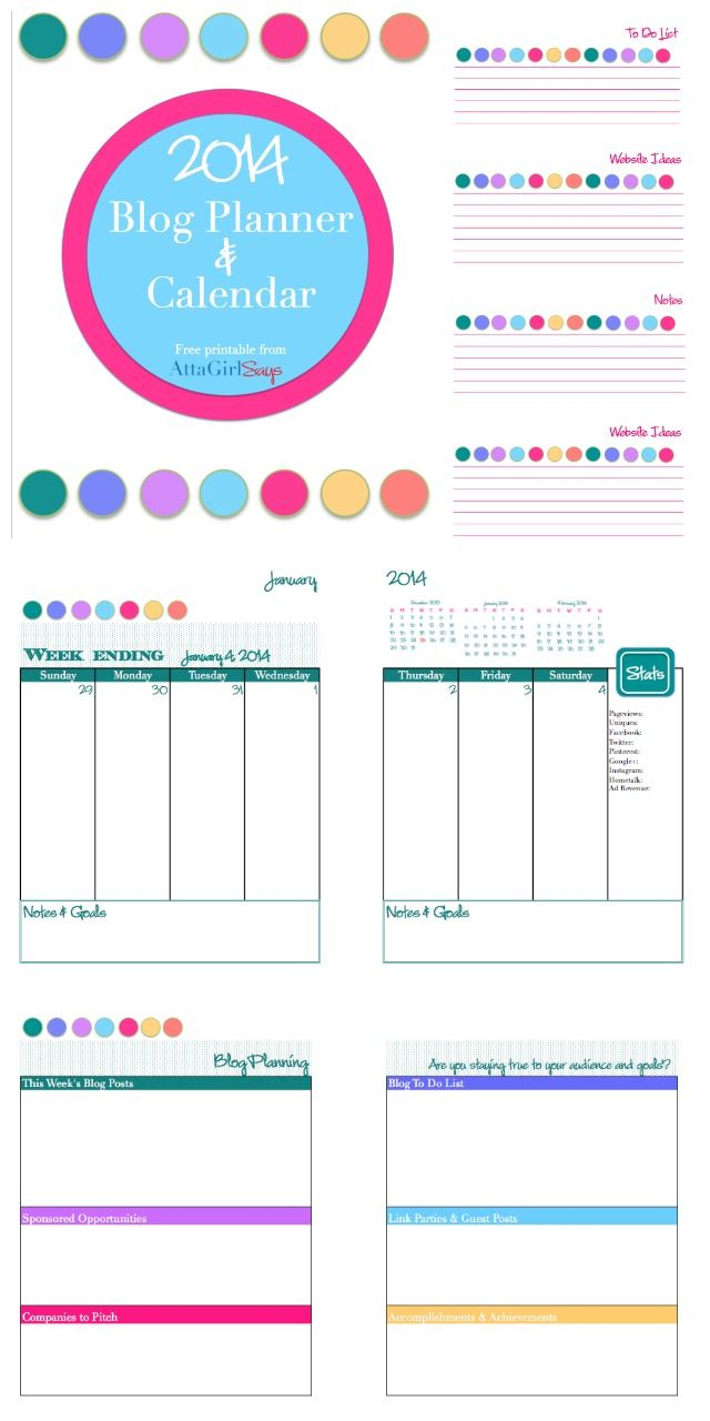 2014 free printable daily planner blog calendar blog planner search and blog