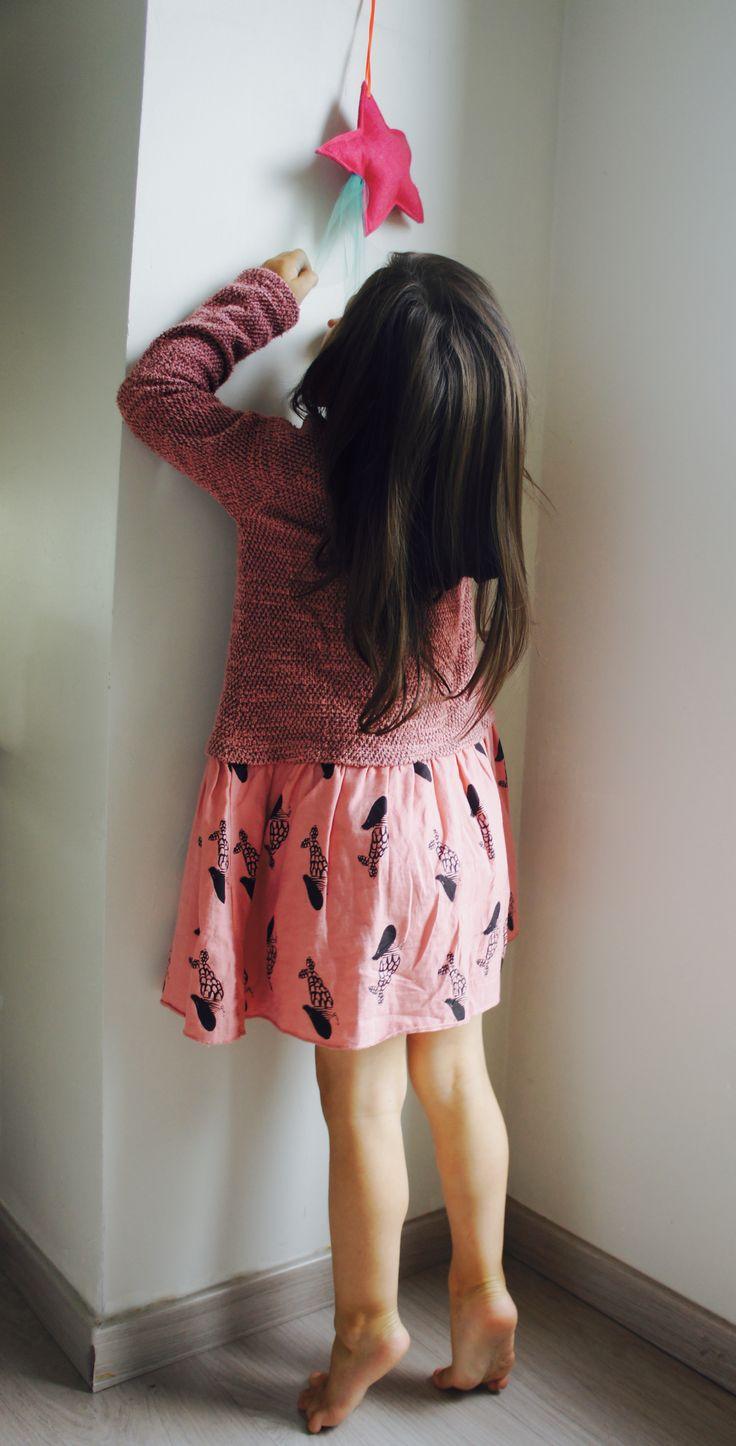 Robe rose, bi matière Imprimé sirène Picnik Barcelona