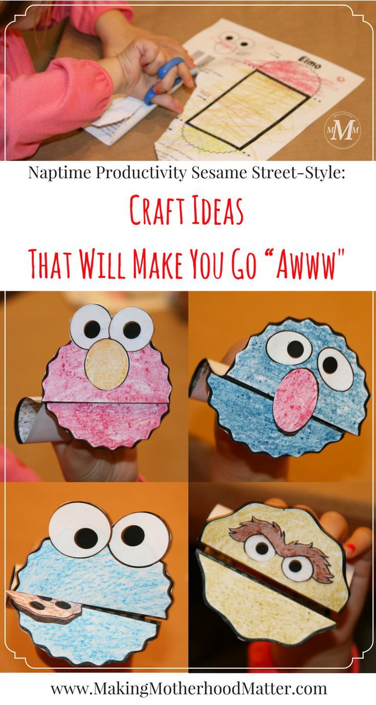 """See the free printables for the Sesame Street craft ideas with Elmo that will make you go """"Awww!"""" Perfect for Sesame Street birthday parties, craft ideas, or puppet shows toddlers and preschoolers will adore. Visit www.makingmotherhoodmatter.com to grab yours. #elmoparty #elmobirthday #elmobirthdayparty #craftideas #sesamestreet #printablesforkids #kidcrafts #kidsactivity #toddlers #activitiesforkids Via @AmyatMMM"""