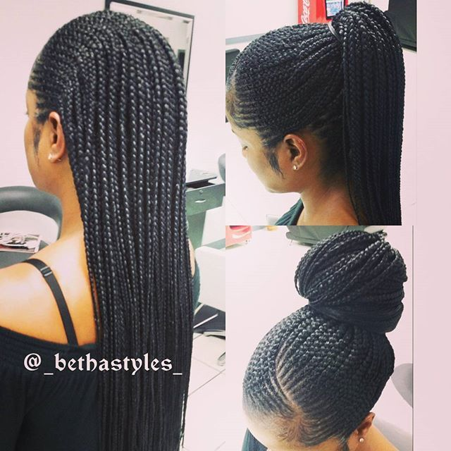 The Box Braids In The Back Make It More Versatile Hair Styles