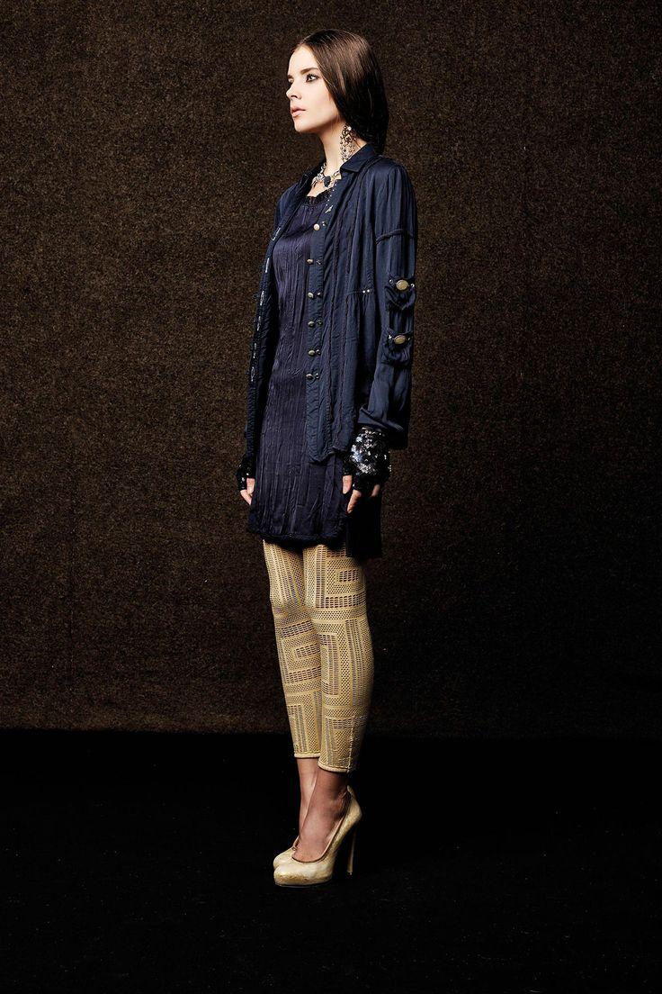 #danieladallavalle #collection #elisacavaletti #fw15 #blue #dress #jacket #sand #leggins