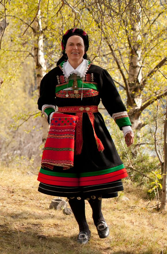 """The folk costume """"Bunad"""" from Setesdal, Norway"""